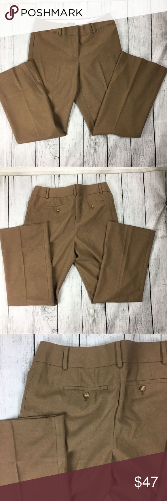 Stunning brown slacks 💕 Absolutely stunning tan slacks. They are super comfy and very stylish. They are the Julie trouser style. The loft has by far the best and most comfiest slacks. They are brand new but do not have tags. Got as a gift but too big for me. TWo back usable pockets. LOFT Pants Trousers