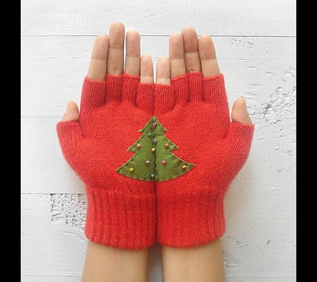 Heart Gloves, Christmas Gift, Regular Gloves, Red Gloves, Xmas Tree Gloves, Love, Special Gift, Xmas Gift, Gift For Her, Weihnachten, Handschuhe, Herz   A special gift for your lover, for your...