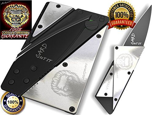 Credit Card Sized Folding Wallet Knife- This Is the Perfect Pocket or Survival Tool, and It Looks Great with Durable, Polished Stainless Steel. It's Cool, Portable, Practical, and Lightweight with a 100% Lifetime Guarantee. We Know You'll Love It!! CUT IT CARD http://www.amazon.com/dp/B0125CFIN4/ref=cm_sw_r_pi_dp_YLW6vb15MG42Q