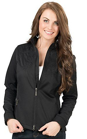 Ariat Women's Black Judy Embroidered Softshell Jacket | Cavender's