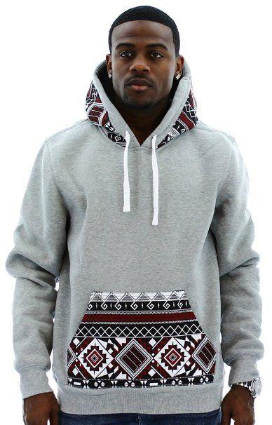 Amazon.com: Escapism Men's Hoodie Aztec Print Hooded Sweatshirt: Clothing