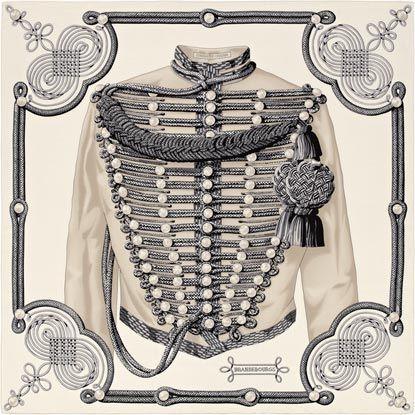 La Maison des Carrés Hermès | Brandebourgs  Shawl in cashmere and silk (140 x 140 cm) Ref. : H241569S 08
