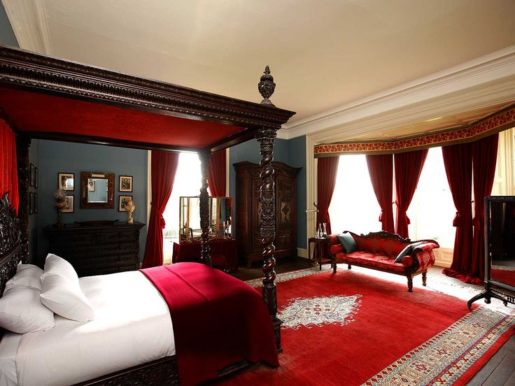 Red Bedroom Decorating Ideas Part - 31: The Red Room, Castle Leslie Estate