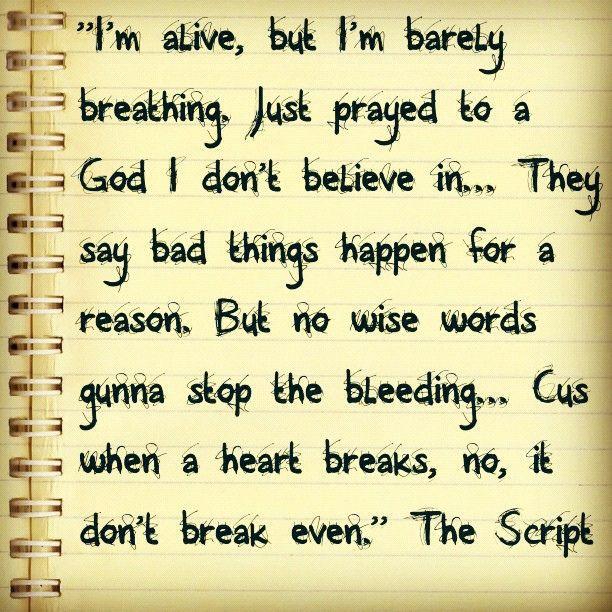 Breakeven by The Script <3
