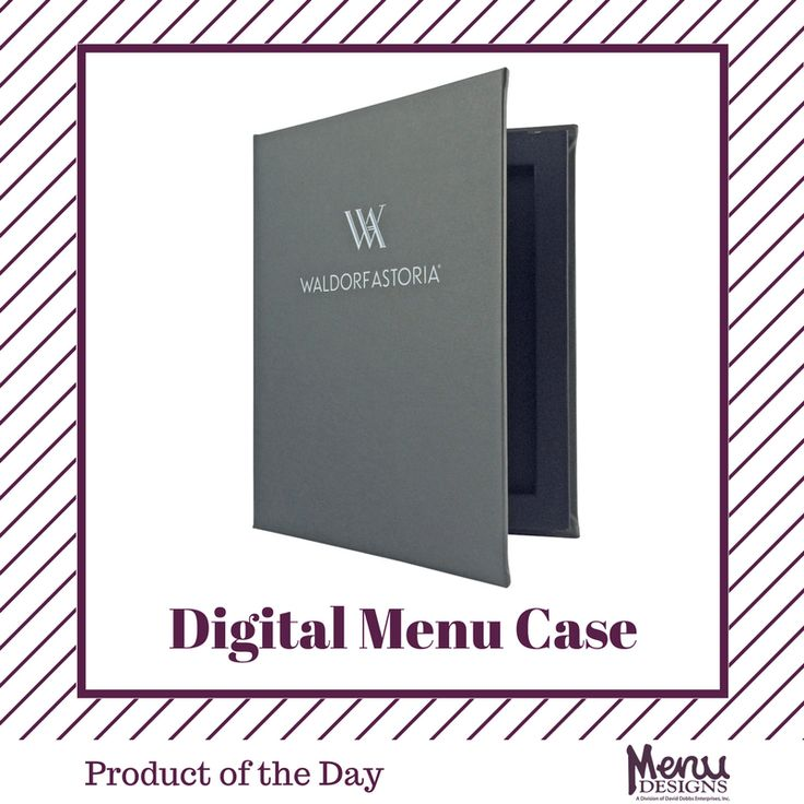 Product of the Day: Digital Menu Cases. Whether you are a fine dining establishment or local cafe, if your restaurant is using electronic devices for your menus then our Digital Menu Case with D30® Impact Protection technology is just what you need! #menudesigns #menus #design #wine #drink #food #restaurant #bar