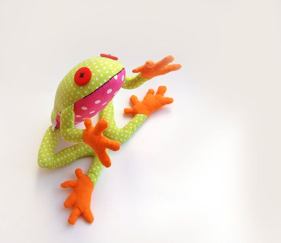 Stuffed frog tropic toy for kids Stuffed animal designer toy