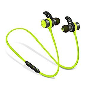 PLAY X STORE Wireless Bluetooth Sports Headphones Stereo In-ear Earbuds with Mic Sweatproof(Green)