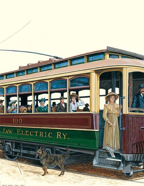 First Trolley Car   Moose Jaw Trolley Car – circa early 1900′s
