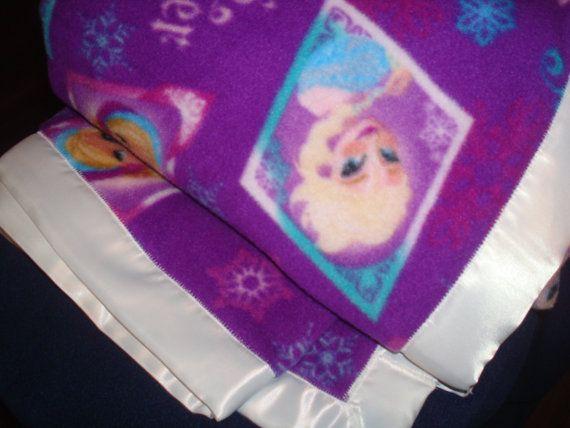 Oversized Disney's Frozen Fleece Blanket by SnugglesSewnSweetly, $54.00