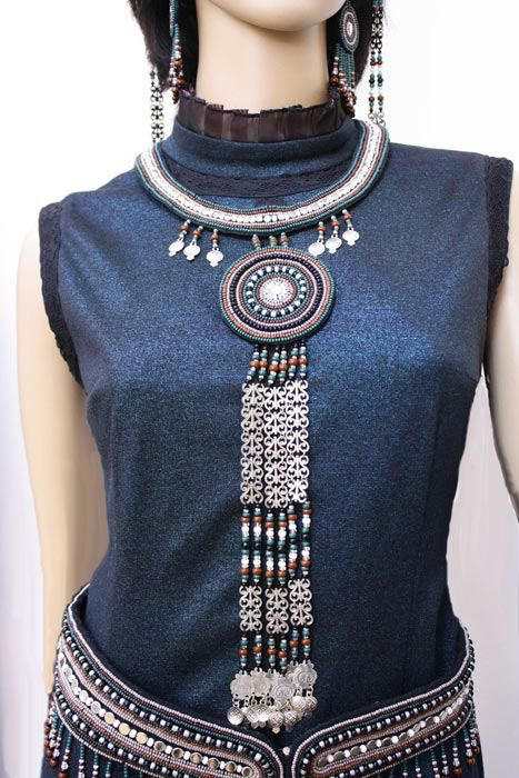 Beautiful Sakha (Yakut) traditional dress