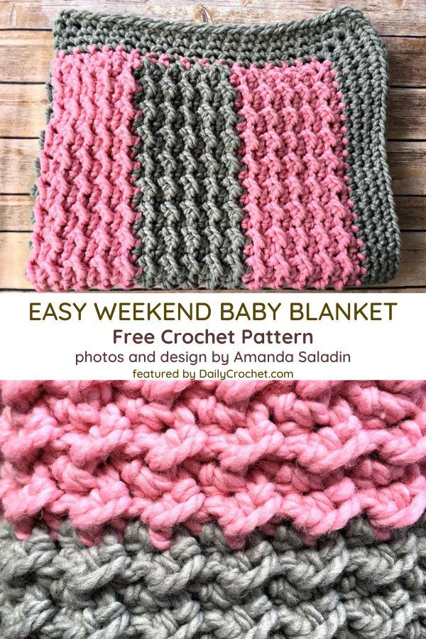 Easy Super Bulky Yarn Baby Blanket Pattern   Baby blanket ...