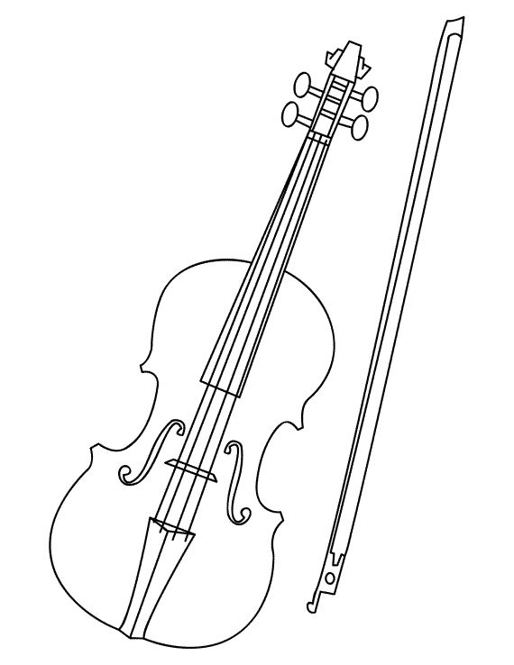 Violin Coloring Page. Free PDF download at http://musiccoloringpages.net/download/violin/