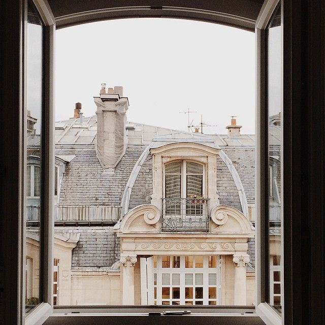A view similar to the flat I rent in Paris. I love staying in the rooftops, they're worth the walk up!
