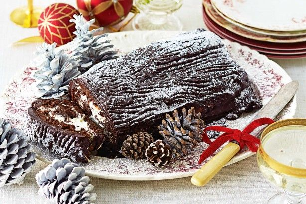 Bake and serve this classic Yule log for Christmas. Instead of strawberry jam, try hazelnut spread for an extra nutty sweet hit!