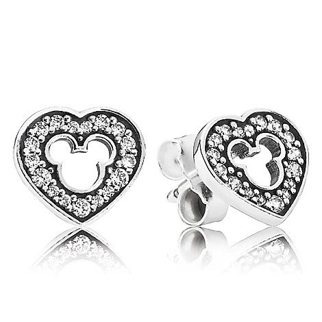 Disney Store, Mickey Mouse Silhouette Earrings by PANDORA, $60