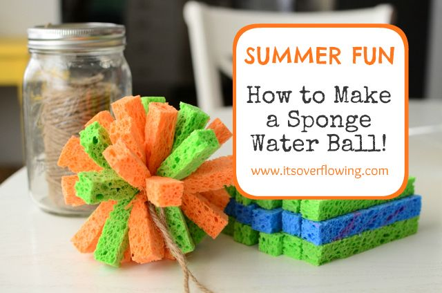 How to make a sponge water ball: Water Ball, Summer Water, Craft, Water Fun, Sponge Ball, Sponge Water, Summer Fun, Diy, Kid