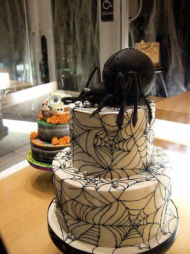Gateau araignée halloween