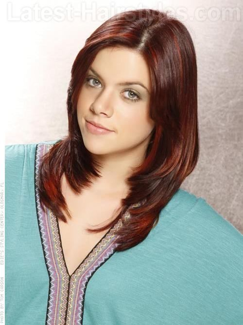 Red Raven Highlighted Smooth Medium Length Style