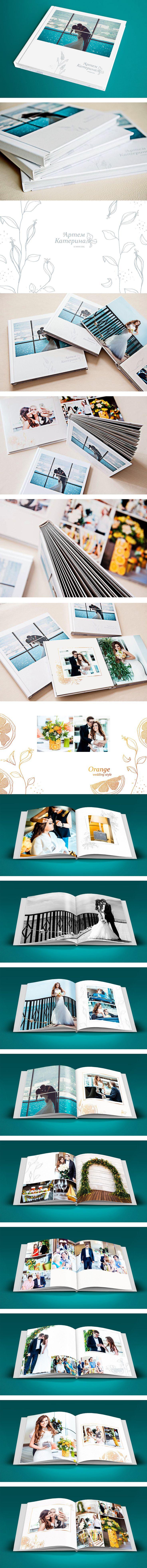 """Wedding album (design, illustration) / Фотоальбом """"Свадьба"""": дизайн, иллюстрации"""