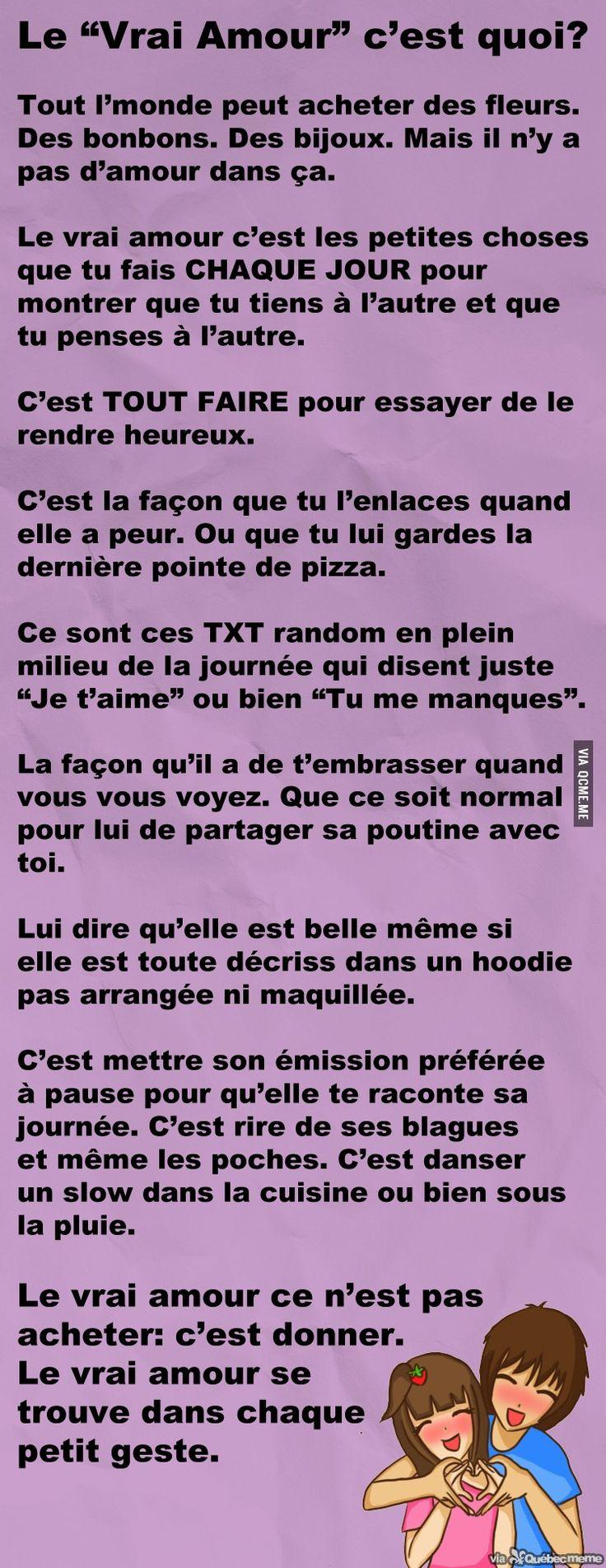 Le Vrai Amour – Québec Meme +