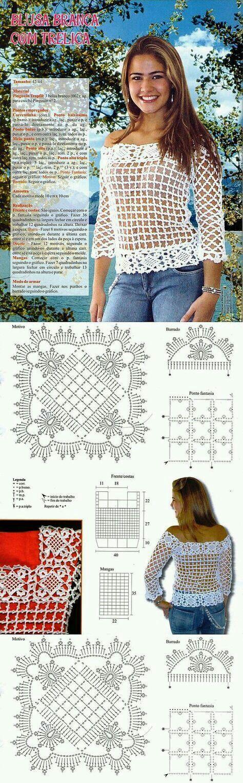 77 best Crochet images on Pinterest | Crochet batwing tops, Hand ...