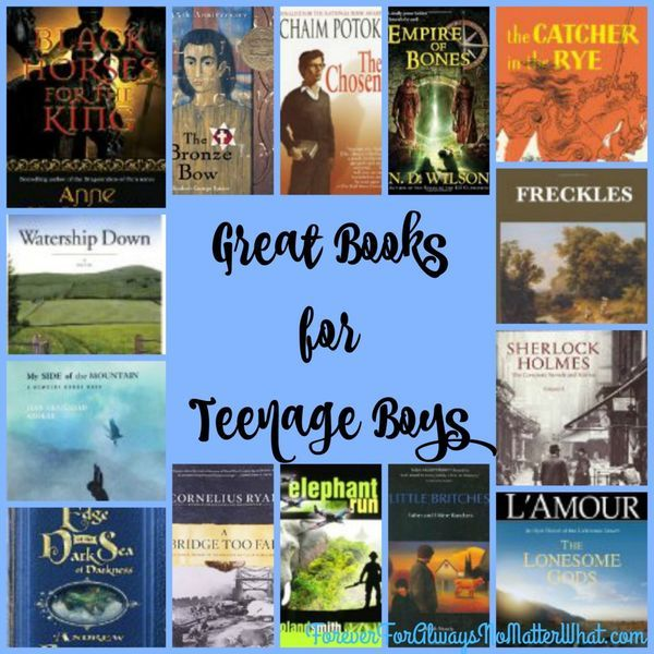 Excellent Books for Teenage Boys | education | homeschool | high school