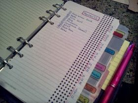 Giftie Etcetera: Beyond The Usual: New Ways To Write In Your Planner