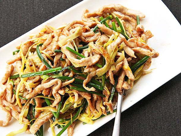 Stir-Fried Sliced Pork With Yellow Chives | Serious Eats : Recipes
