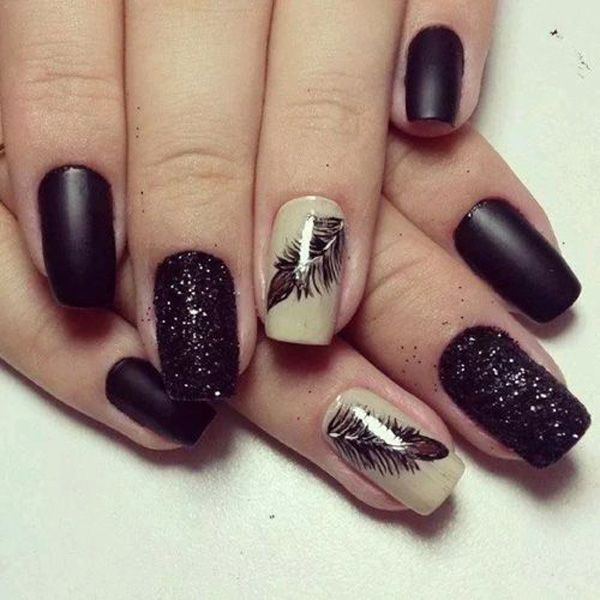 32 Feather nail art