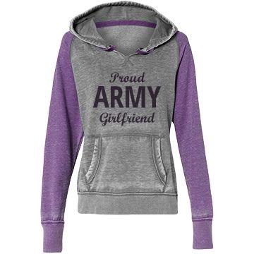 Proud army girlfriend | Custom trendy vintage army girlfriend hoodie.