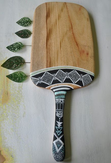 Boho Cheeseboards | Bohemian Kitchen. Many hand-painted to choose from. Love her designs and irregular shaped boards