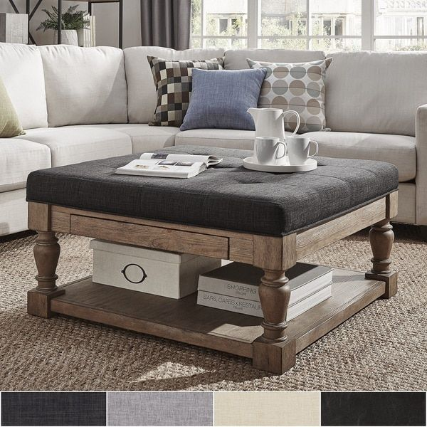 Perfect TRIBECCA HOME Lennon Baluster Storage Ottoman Coffee Table   Pine Part 18