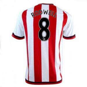 Sunderland AFC Home 16-17 Season Rodwell #8 Red Soccer Jersey [I328]