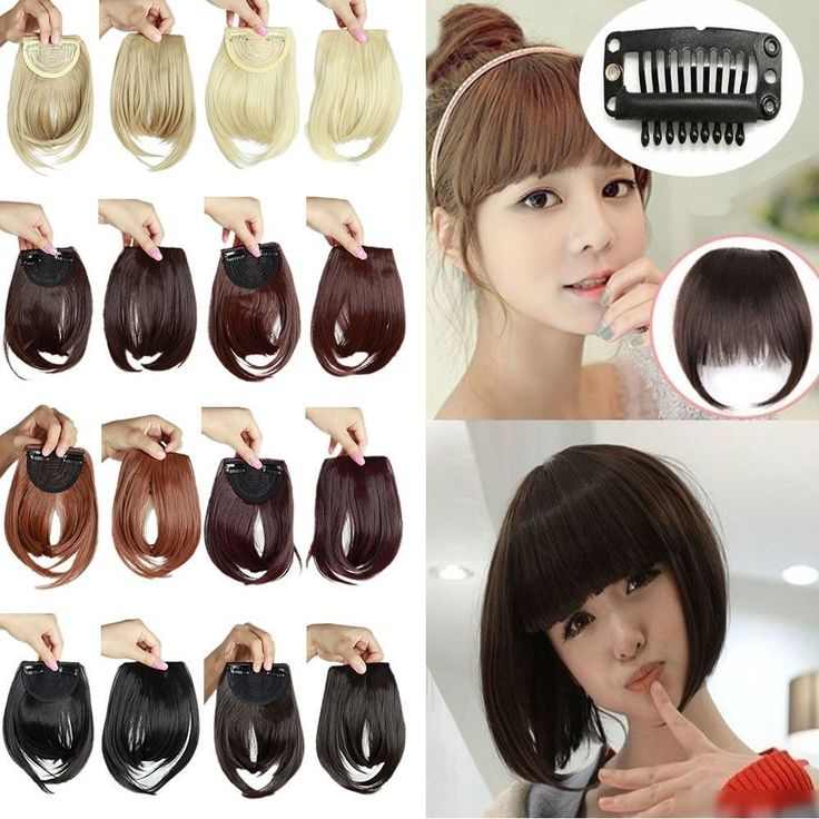 100% Real Clips on Bangs Fring Straight Hair Piece Clip in Hair Extensions ye16 #Unbranded #HairExtension