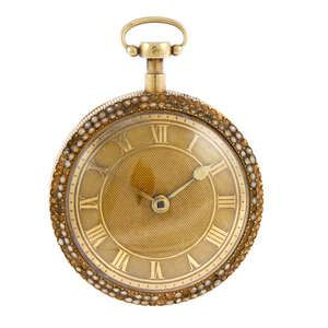 LOT:491 | A yellow metal open face repeater pocket watch.