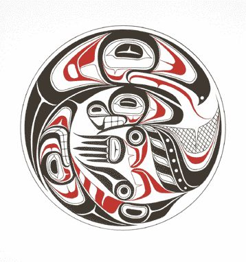 Tlingit Clan Crests eagle killerwhale | Eagle Clan