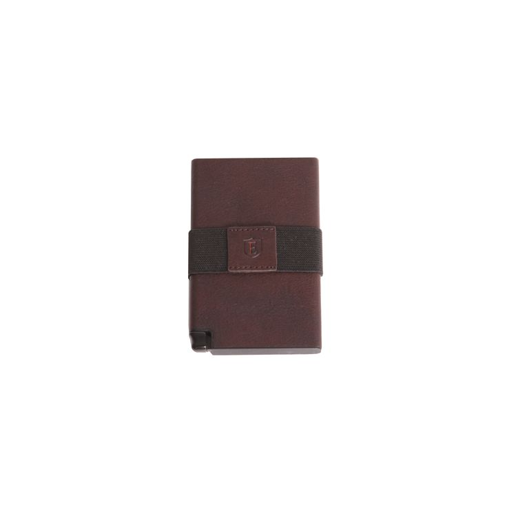 The Senate Coffee Brown - An ultra-slim trackable wallet that provides instant card access at the click of a button.