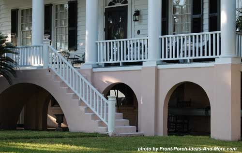 raised front porch on southern home