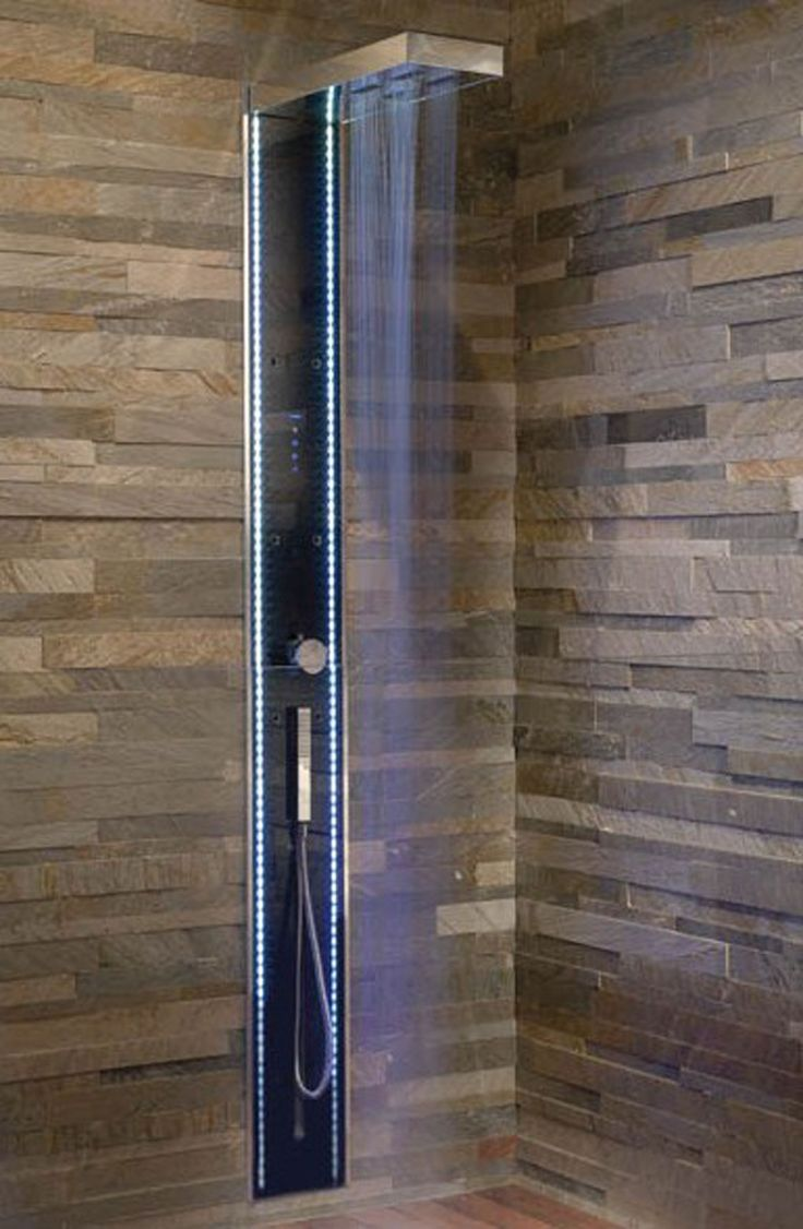 Shower Bathroom Tile Ideas By Megius: Blue Shower Tile Ideas. Love The  Stacked Stone