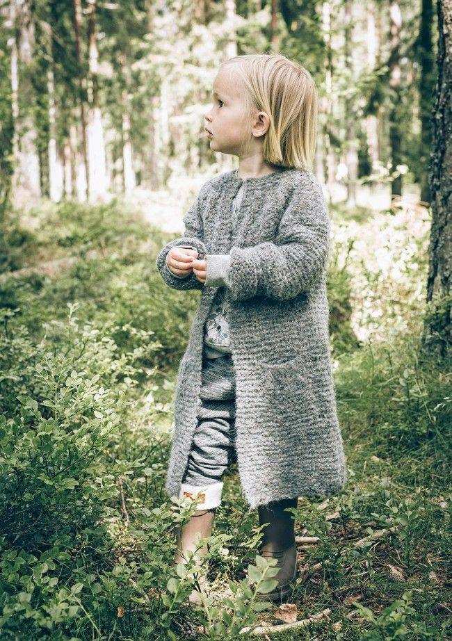 Sandnes garn - Tweed. Jentejakke