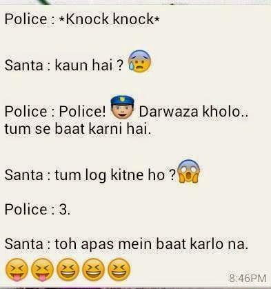 Urdu Latifay: Police and Santa Jokes in Roman Urdu 2014