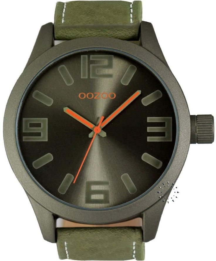 OOZOO XXL Τimepieces Green Leather Strap Η τιμή μας: 69€ http://www.oroloi.gr/product_info.php?products_id=34663