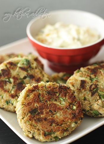Zucchini Crab Cakes Recipe ~ there's no crab in these but the zucchini looks good.