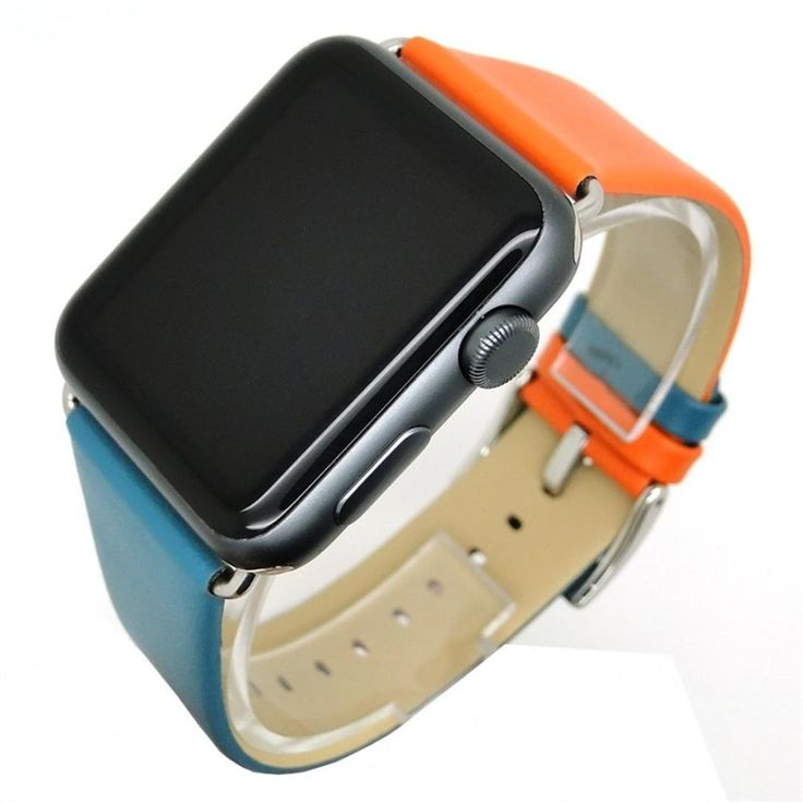 Unpara Sturdy Durable Comfortable Stitching Color Leather Strap Replacement Watch Band For Apple Watch 38mm (A). Compatible:suitable for Apple Smart Watch 1/2 38MM. Advantage:Compression molding, stitching color,sturdy and durable. Design for Feeling:Softness is moderate, wear very comfortable. Material: Premium Leather. Size:can be adjusted according to the circumstance of individual wrist.