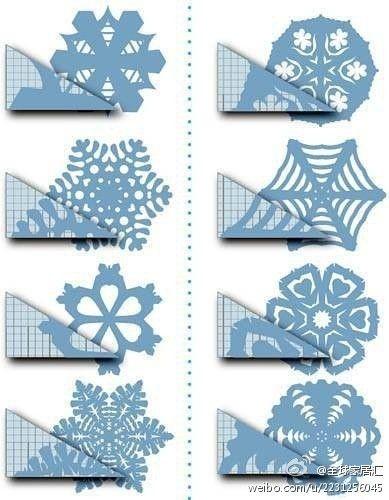 Kirigami Snowflake patterns