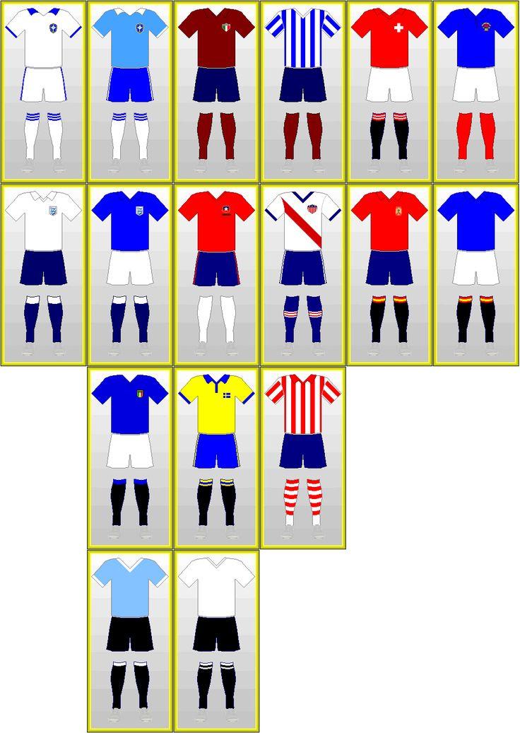Uniformes da Copa do Mundo da FIFA: BRASIL 1950