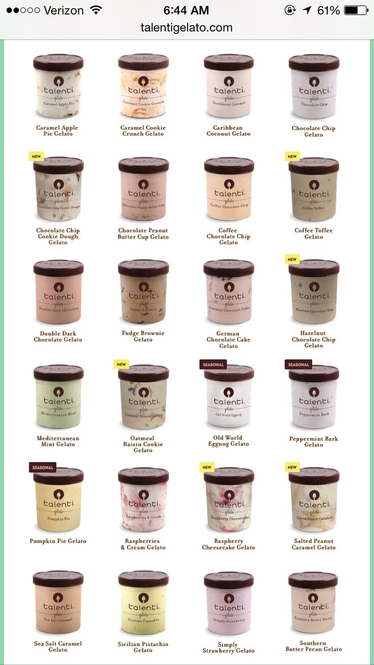 Try all talenti flavors
