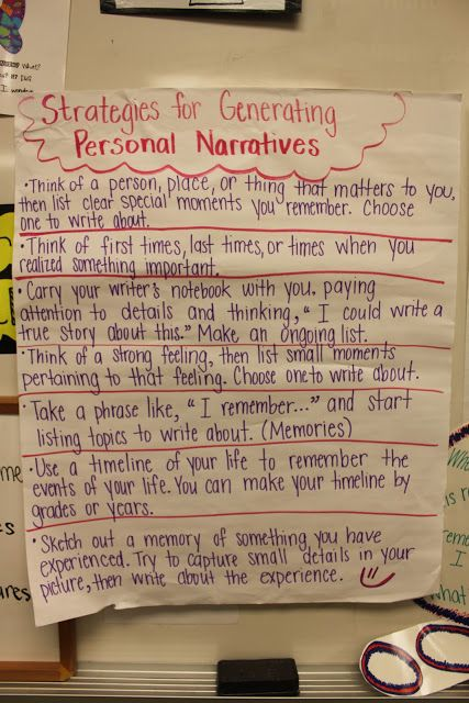 a personal narrative on attending a writing class Example of a personal narrative essay.