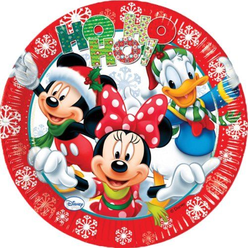 Mickey Mouse and Friends Christmas Party Plates