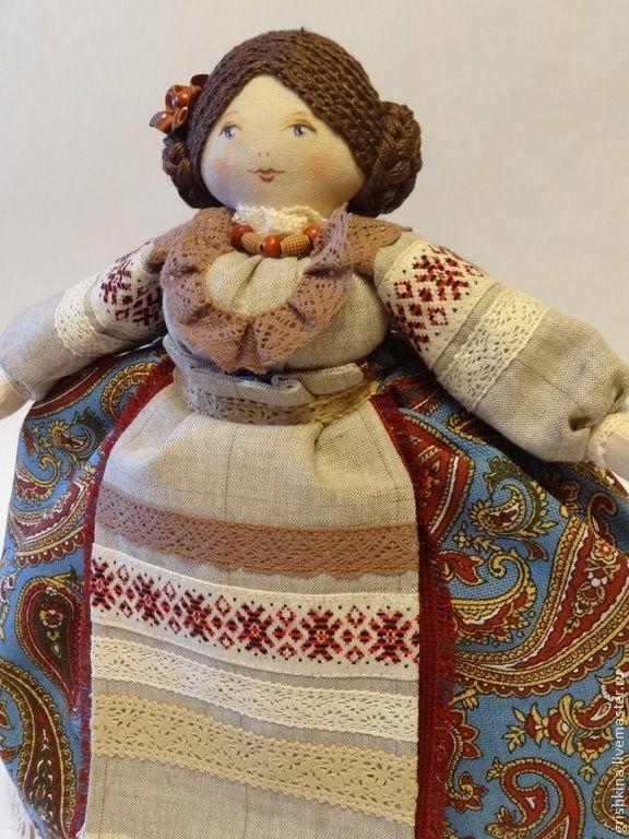 Купить Кукла на чайник - кукла на чайник, чаепитие, интерьерная кукла, кухонный интерьер, кухонные принадлежности